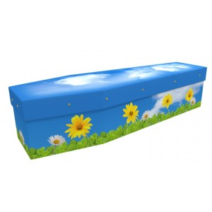 Friendship Daisies - Floral Design Picture Coffin