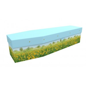 Buttercup Meadow - Floral Design Picture Coffin