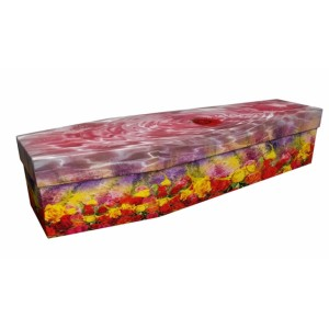 Bathing in Roses – Floral Design Picture Coffin