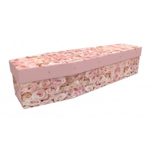 Bed of Roses – Floral Design Picture Coffin