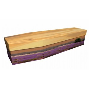 Purple Passion (Lavender) - Floral Design Picture Coffin