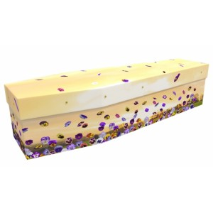 Perfect Pansies - Floral Design Picture Coffin