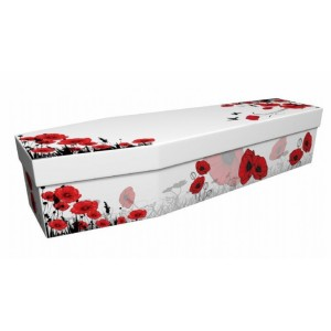 We Will Remember (Poppies) - Floral Design Picture Coffin