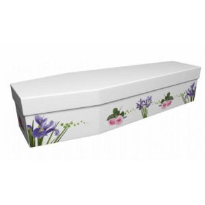 Wild & Thorny (Iris & Roses) - Floral Design Picture Coffin