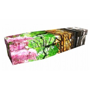 Seasons & Blooms - Floral Design Picture Coffin