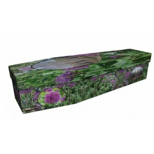 Forever In Our Hearts - Floral Design Picture Coffin