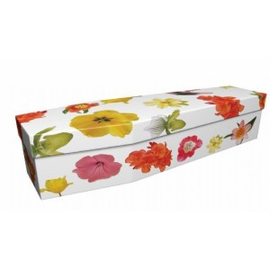 Spring Flowers in Bloom - Floral Design Picture Coffin