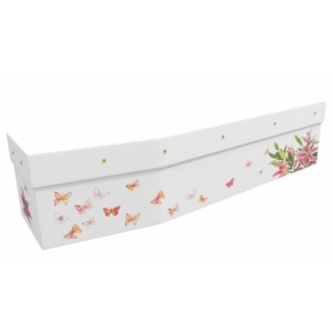 Butterflies & Orchids - Floral Design Picture Coffin