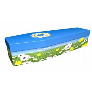 Summertime Daisies - Floral Design Picture Coffin