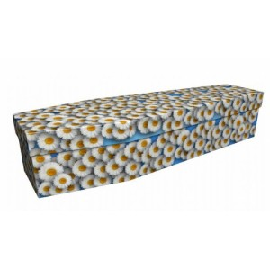 Sunkissed Daisies - Floral Design Picture Coffin