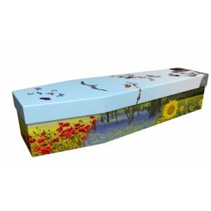 Seasonal Flowers & Wildlife - Floral Design Picture Coffin