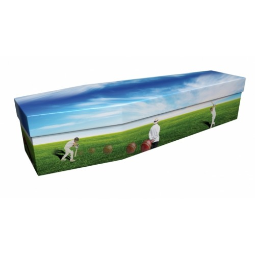 Cricket – Sports & Hobbies Design Picture Coffin