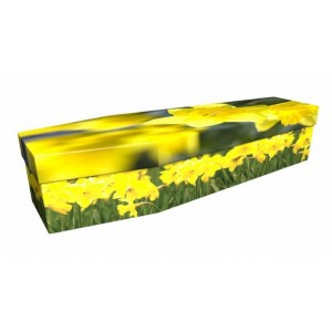 Daffodil – Floral Design Picture Coffin