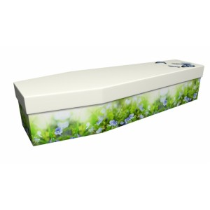 Forget Me Not – Floral Design Picture Coffin