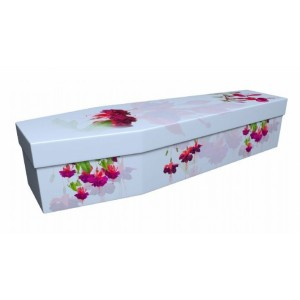 Fuchsia – Floral Design Picture Coffin