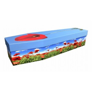 Poppy – Floral Design Picture Coffin