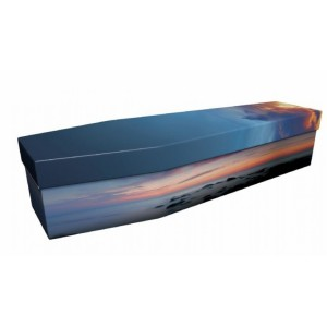 Peace at Sunset - Landscape / Scenic Design Picture Coffin