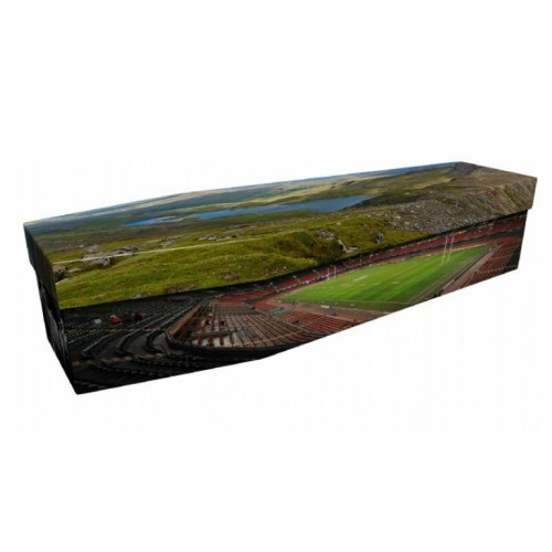 Welsh Rugby & Countyside Landscapes - Sports & Hobbies Design Picture Coffin