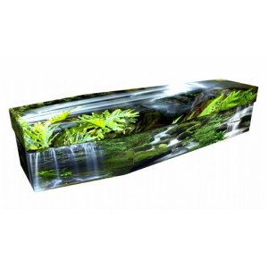 Natures Divine Waterfall - Landscape / Scenic Design Picture Coffin