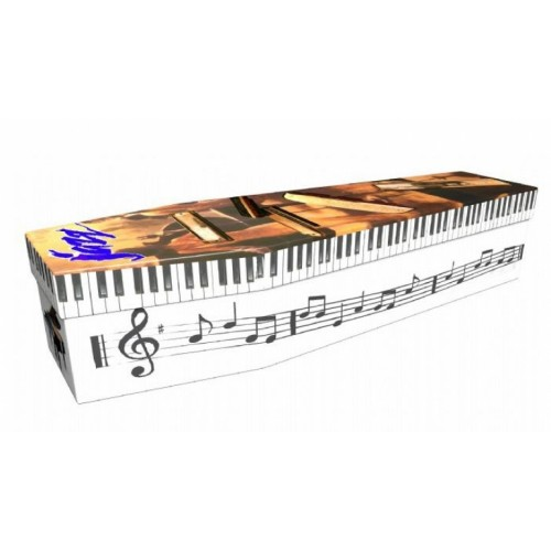 Passion over perfection (Jazz Pianist) - Lost in Music Design Picture Coffin