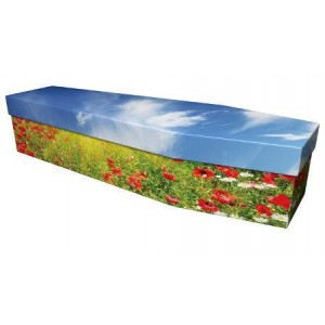 The Poppy Field - Premium Cardboard Picture Coffin