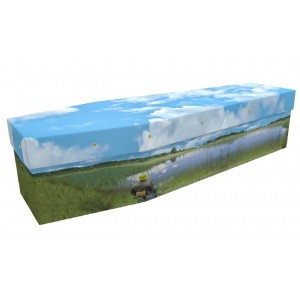Fishing (The Fisherman) - Sports & Hobbies Design Picture Coffin