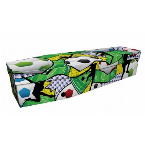 Urban Soccer - Sports & Hobbies Design Picture Coffin