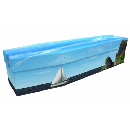 Sail Away - Sports & Hobbies Design Picture Coffin