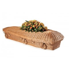 "Wicker / Willow ""Angel"" (Chestnut Brown) Coffin – 100% NATURAL MATERIALS"