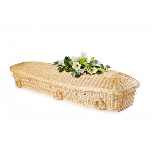 "Wicker / Willow ""Angel"" (Creamy White) Coffin – Creative Eco Coffins"