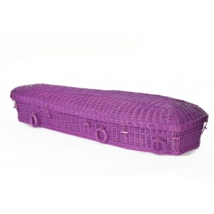 Your Colour - Wicker / Willow Imperial PURPLE 'Angel Pod' Coffin