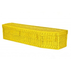 Your Colour - Wicker Imperial (Traditional) Coffins – SUNFLOWER YELLOW - Available in a range of DULUX colours