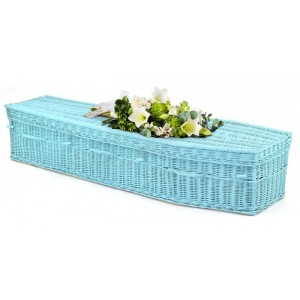 Your Colour - Wicker Imperial (Traditional) Coffins – LIGHT BLUE - Available in a full range of colours