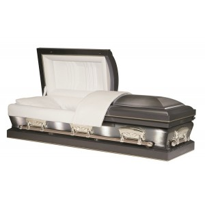 The Dayton (Two Tone) Steel American Casket - Memorial Record Tube