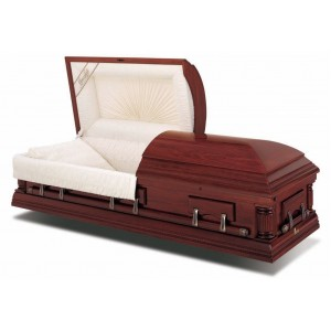 Henley (Full Size) - American Style Casket - Suitable for Burial or Cremation.