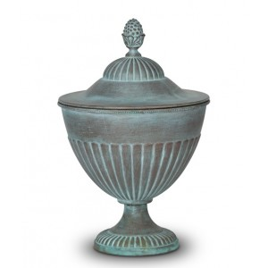 Biodegradable Adult Size Cremation Ashes Funeral Urn - Calix Mortis Patina Noble Rome
