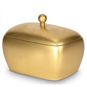 Biodegradable Adult Size Cremation Ashes Urn - Noble Antique Gold Royal Burial Chest