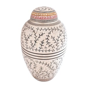 Gracefully Entwined Brass Cremation Ashes Urn