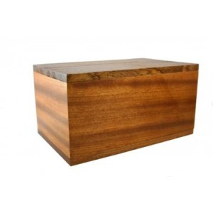 VAULT Solid Mahogany Cremation Ashes Casket - **FREE ENGRAVING**
