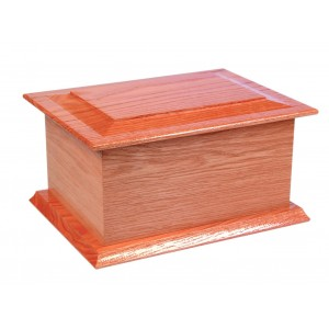 St Cuthbert (Oak) Cremation Ashes Casket - FREE Engraving when you buy this product.