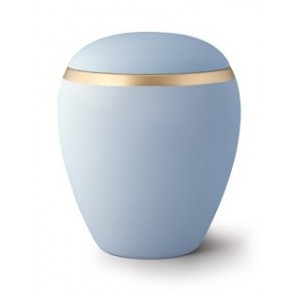 Croma Ceramic Cremation Ashes Urn - Sky Blue **MEMORIAL URN FOR ETERNITY**