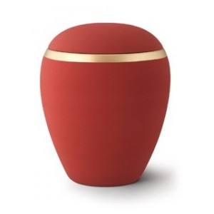 Croma Ceramic Cremation Ashes Urn - Ruby Red