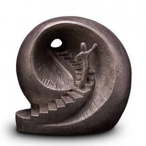 Designer Ceramic Liquid Silver Cremation Ashes Urn – Stairway to Heaven