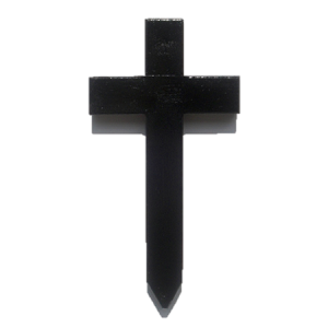 Small Black Grave Marker / Wooden Cross
