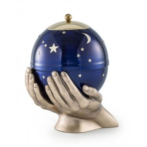 Infant / Child / Baby / Boy / Girl – Moon and Stars (Heaven In Your Hands) Cremation Ashes Urn