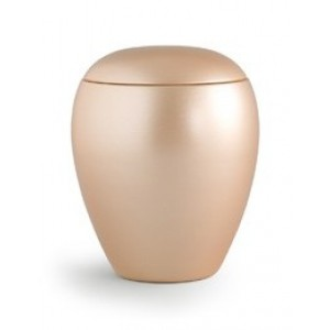 My Little Angel -Small Ceramic Cremation Ashes Urn - CHERISHED APRICOT - Capacity 0.5 Litres