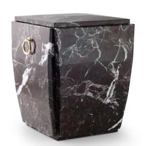 Marble Stone Cremation Ashes Urn / Casket – Rosso Levanto – Prized Granite - Reddish Brown Bright
