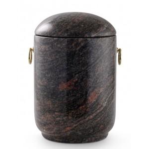 Unique Granite Natural Stone Cremation Ashes Urn – Aruba Red / Black