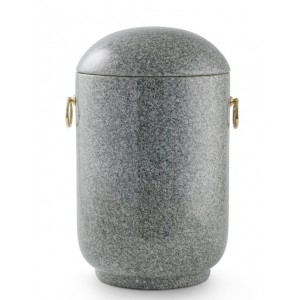 Unique Granite Natural Stone Cremation Ashes Urn – Shades of Light Grey