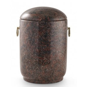 Unique Granite Natural Stone Cremation Ashes Urn – Imperial Himalayan Red